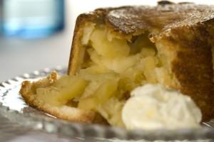 Charlotte de pommes au fromage de chèvre