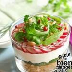 Cheese-cake au chèvre frais et aux légumes croquants