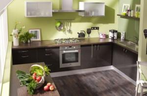 Cuisine design r novation cuisine cuisine maison - Couleur vert anis et taupe ...